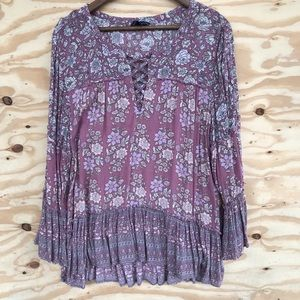 American Eagle Outfitter Boho Top Tiered XXL